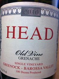 Head Old Vine Grenache 2010