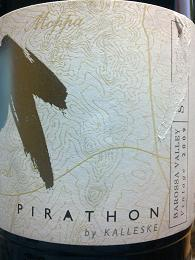 Pirathon by Kalleske Shiraz 2009, Moppa, Barossa Valley