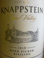 Knappstein Hand-Picked Riesling 2010, Clare Valley, SA