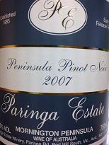 Paringa Estate Peninsula Pinot Noir 2007