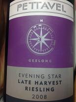 Pettavel Evening Star Late Harvest Riesling 2008, Geelong, VIC