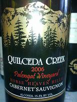 Quilceda Creek Palengat Vineyard Cabernet Sauvignon 2006, Washington, USA