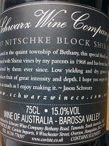 Schwarz Wine Co Nitschke Block Shiraz 2007