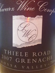 Schwarz Wine Co Thiele Road Grenache 2007