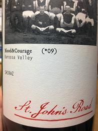 St John's Road Blood & Courage Shiraz 2009, Barossa Valley, SA